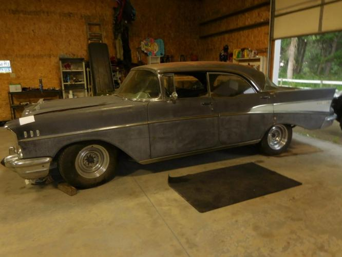 1957 Chevrolet Bel Air 4 door hardtop project