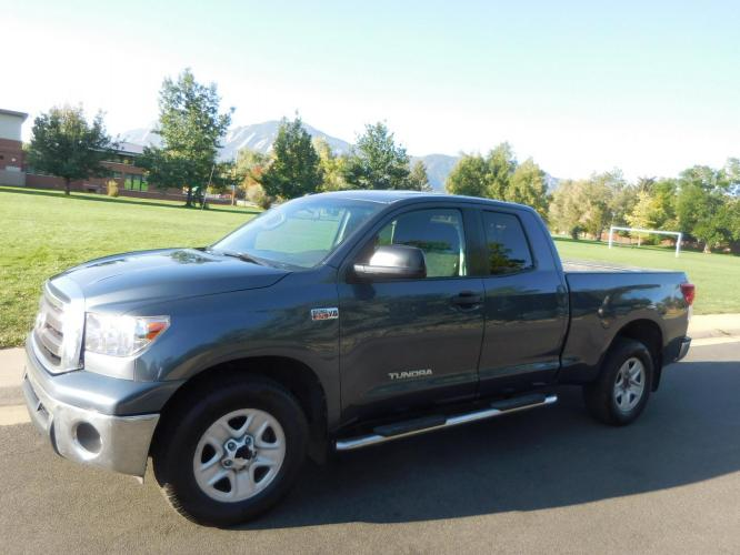 2010 Gray Toyota Tundra SR5 5.7L Double Cab 2WD (5TFRY5F14AX) with an 5.7L V8 DOHC 32V engine, 6-Speed Automatic Overdrive transmission, located at 2510 47th St. Suite 200, Boulder, CO, 80301, (303) 641-0333, 40.026196, -105.243217 - Photo #1